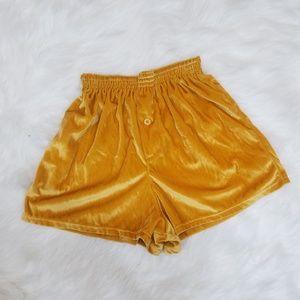 Vintage Marigold Velvety Gym Short Shorts